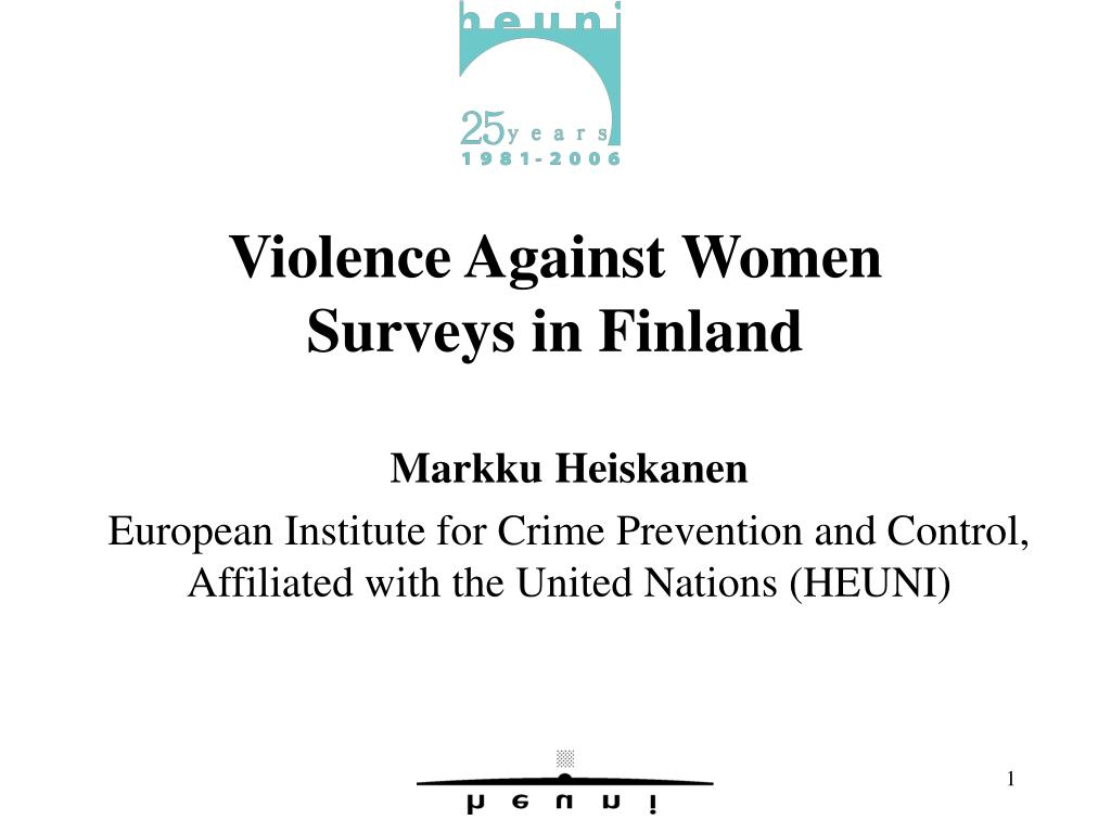 violence against women surveys in finland l.