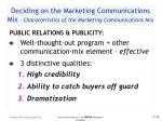 deciding on the marketing communications mix characteristics of the marketing communications mix56
