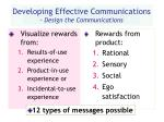 developing effective communications design the communications25