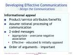 developing effective communications design the communications27