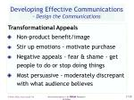 developing effective communications design the communications28