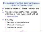 developing effective communications design the communications30
