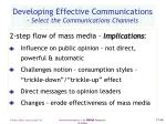 developing effective communications select the communications channels46
