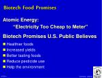 biotech food promises