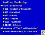 earthsave membership