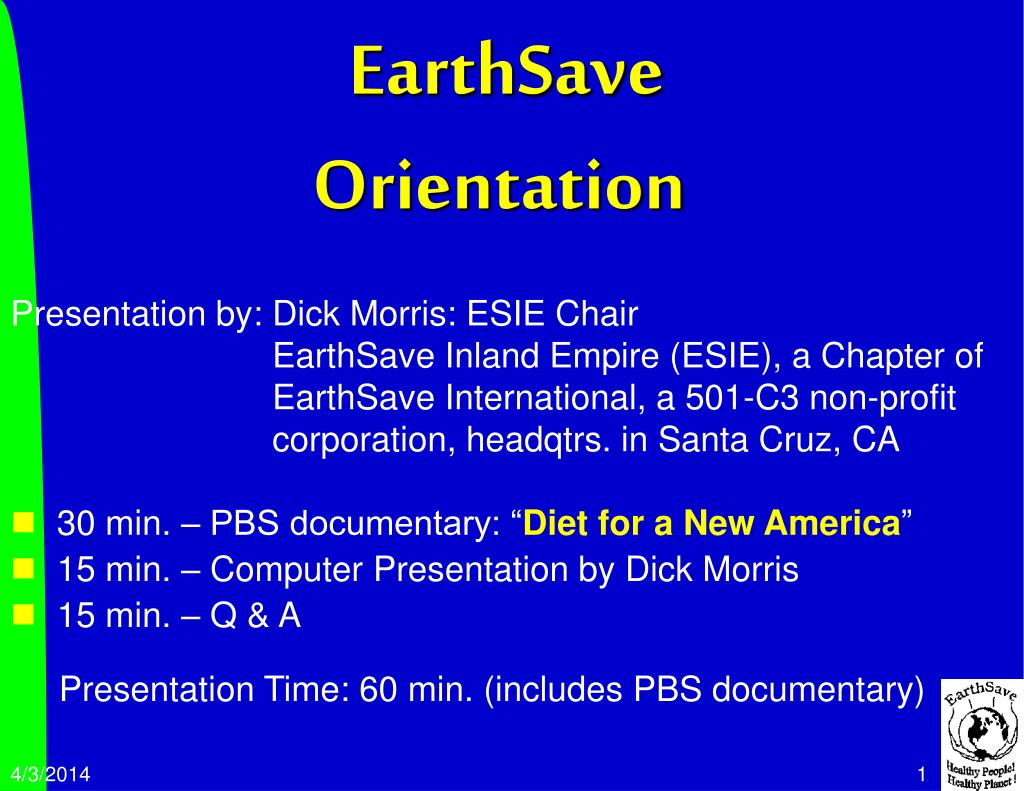earthsave orientation l.