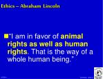 ethics abraham lincoln