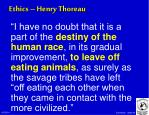 ethics henry thoreau