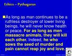 ethics pythagorus
