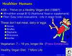 healthier humans