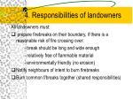 4 responsibilities of landowners