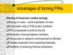 advantages of forming fpas