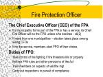 fire protection officer