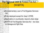 the national veld forest fire act nv ffa