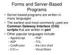 forms and server based programs5