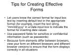 tips for creating effective forms43