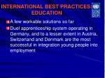 international best practices education