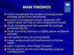 main findings