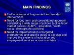 main findings26