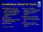 vulnerable group of youth