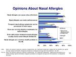 opinions about nasal allergies