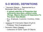 s o model definitions25