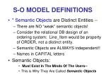 s o model definitions28