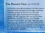 the parent s view jn 9 18 20