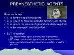 preanesthetic agents