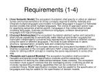 requirements 1 4