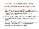 use of data mining in drug safety assessment introduction