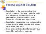 foodgalaxy net solution