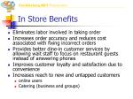 in store benefits