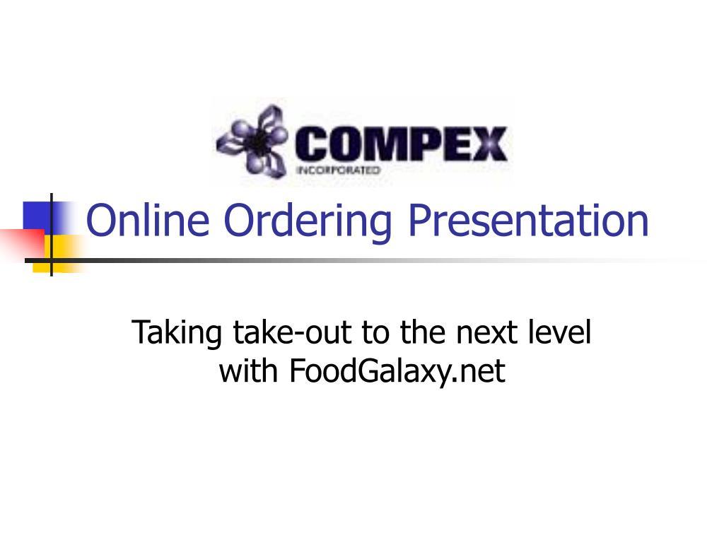 online ordering presentation l.