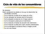 ciclo de vida de los consumidores11