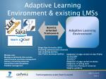 adaptive learning environment existing lmss