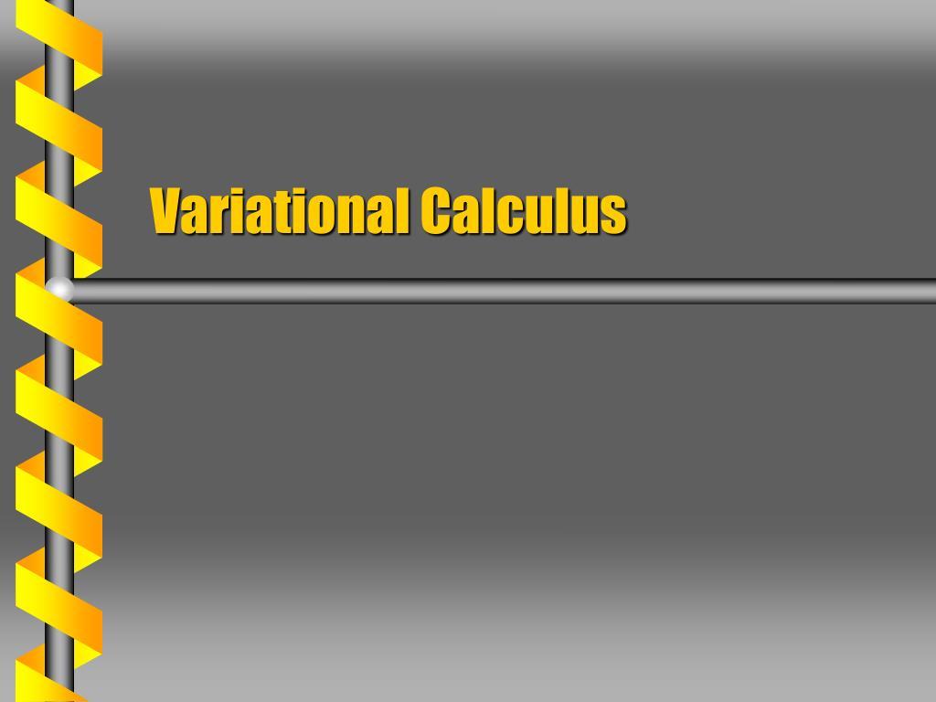 variational calculus l.