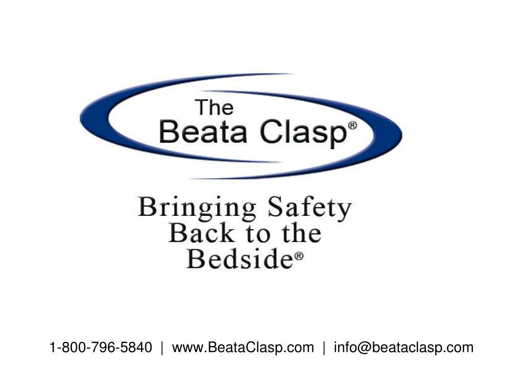1 800 796 5840 www beataclasp com info@beataclasp com l.