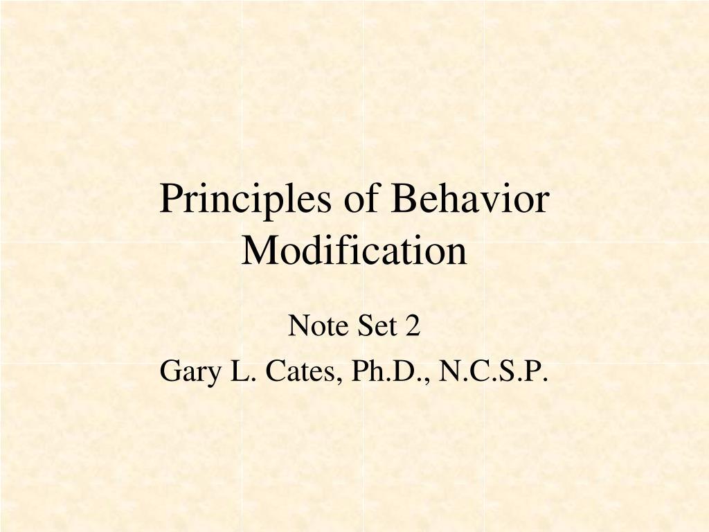 principles of behavior modification l.
