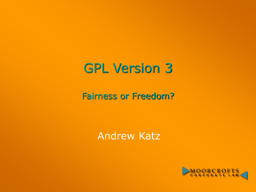 gpl version 3 fairness or freedom l.