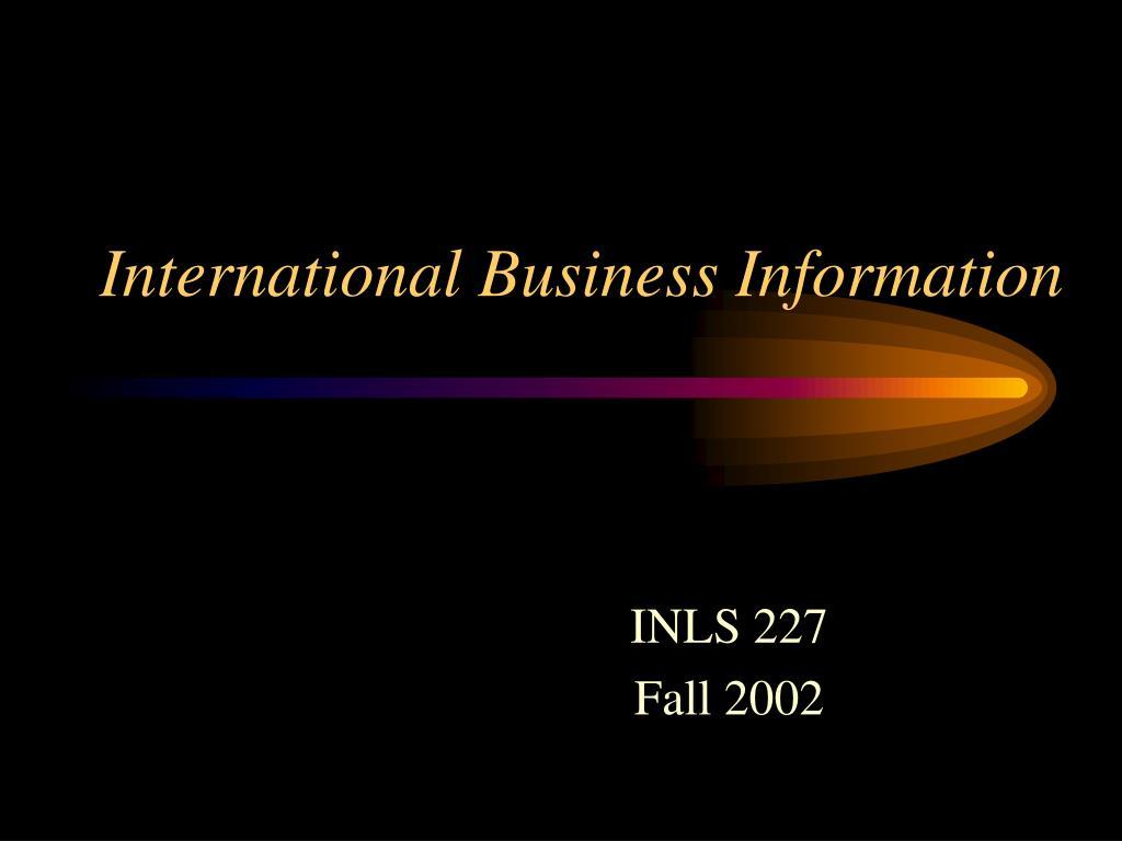 international business information l.