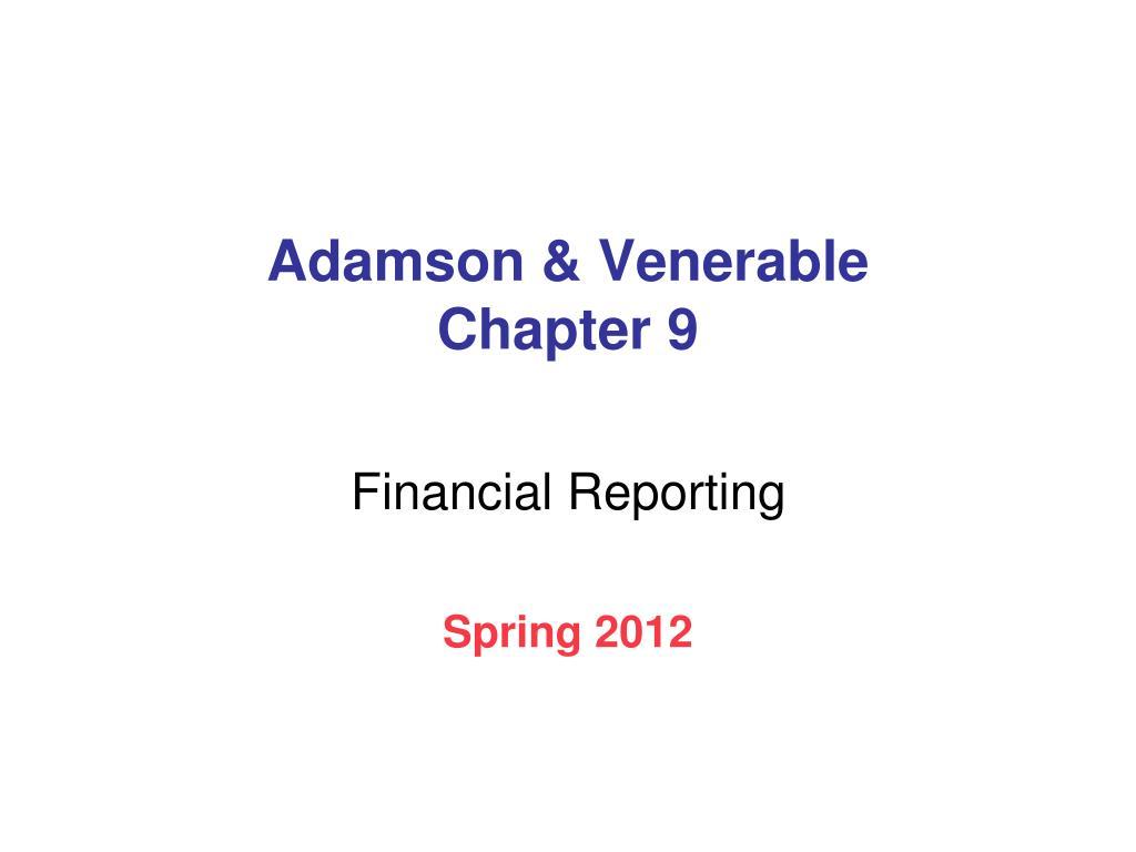 adamson venerable chapter 9 l.