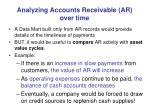 analyzing accounts receivable ar over time
