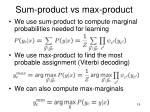sum product vs max product