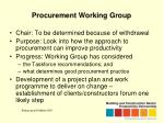 procurement working group