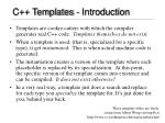 c templates introduction
