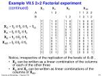 example vii 5 2 2 factorial experiment continued44