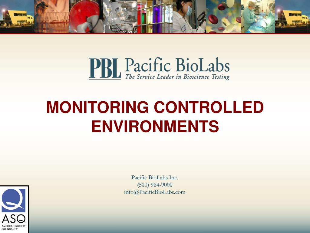 monitoring controlled environments l.