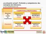 la situaci n actual profesi n y competencia dos conceptos de referencia y las competencias ii