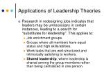 applications of leadership theories22